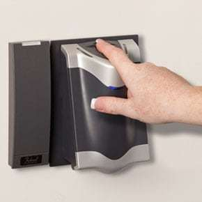 Control access with biometric finger readers